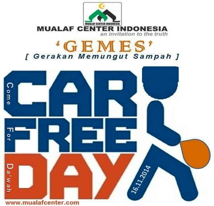 Kristenisasi Car Free Day Memungut Sampah