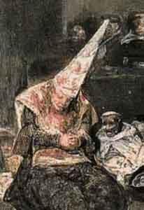 simbol pemurtadan Goya_Tribunal.Flammenhut