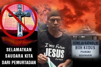Ilustrasi Kristenisasi dan Pemurtadan Di Indonesia