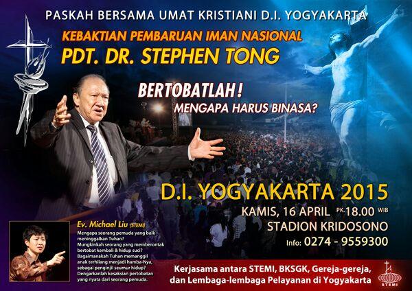 Pendeta misionaris STEPHEN TONG