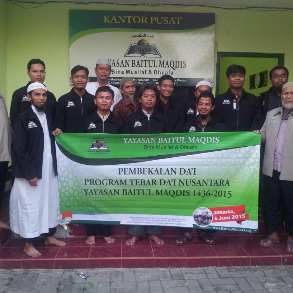 Yayasan Baitul Maqdis beserta para da'i dalam program Tebar Da'i Nusantara Ramadhan 1436 H