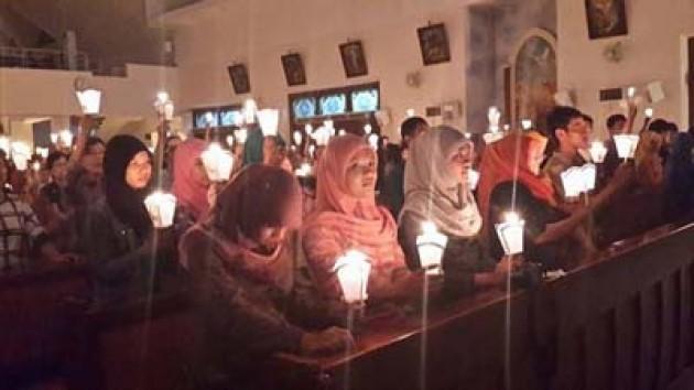 ILUSTRASI: MAHASISWA IAIN WALISANGA SEMARANG IKUT ACARA MISA