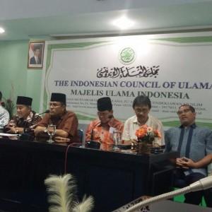 Konferensi pers yang digelar oleh MUI terkait peristiwa pembakaran gerjea di Aceh Singkil.