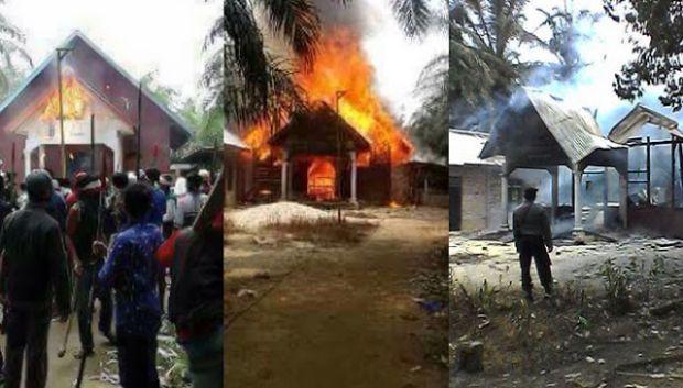 Peristiwa pembakaran gereja tak berizin di Aceh Singkil