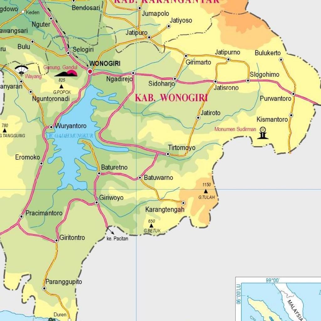 Ilustrasi peta Kabupaten Wonogiri