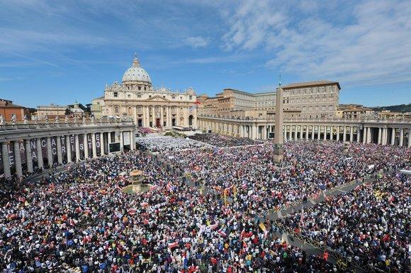 Suasana Vatikan Roma pada salah satu kegiatan keagamaan