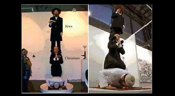 Ilustrasi Umat Islam Lemah ditindas Yahudi dan Nasrani