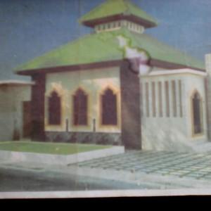 Site Plan Gambar Bangunan Musholla Yang Dibangun