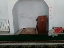 Salah satu bentuk aksi vandalisme di salah satu Masjid di Yogyakarta.