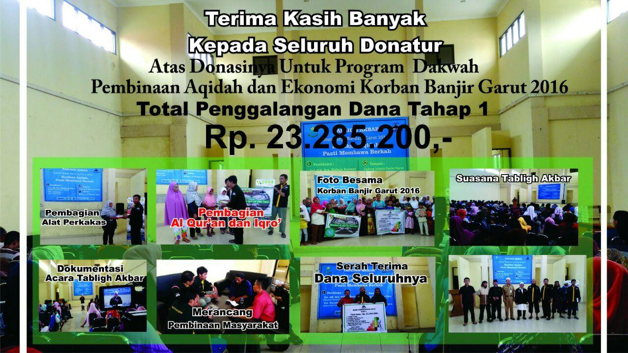 Foto-foto dokumentasi kegiatan Peduli Garut.