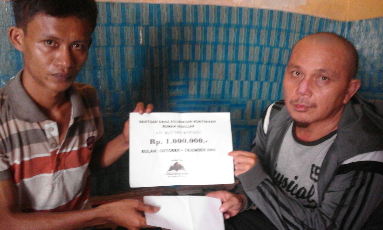 pelunasan dana Bantuan kepemilik kontrakan