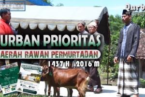"""QURBAN PRIORITAS 1437 H / 2016 M """"DAERAH RAWAN PERMURTADAN"""""""