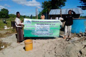Tahap Pertama Pembangunan Rumah 8 Angota Muallaf NTT