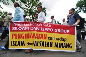Patut dicontoh, Umat Islam Sumatera Barat Sepakat Tolak RS.Kristen Siloam