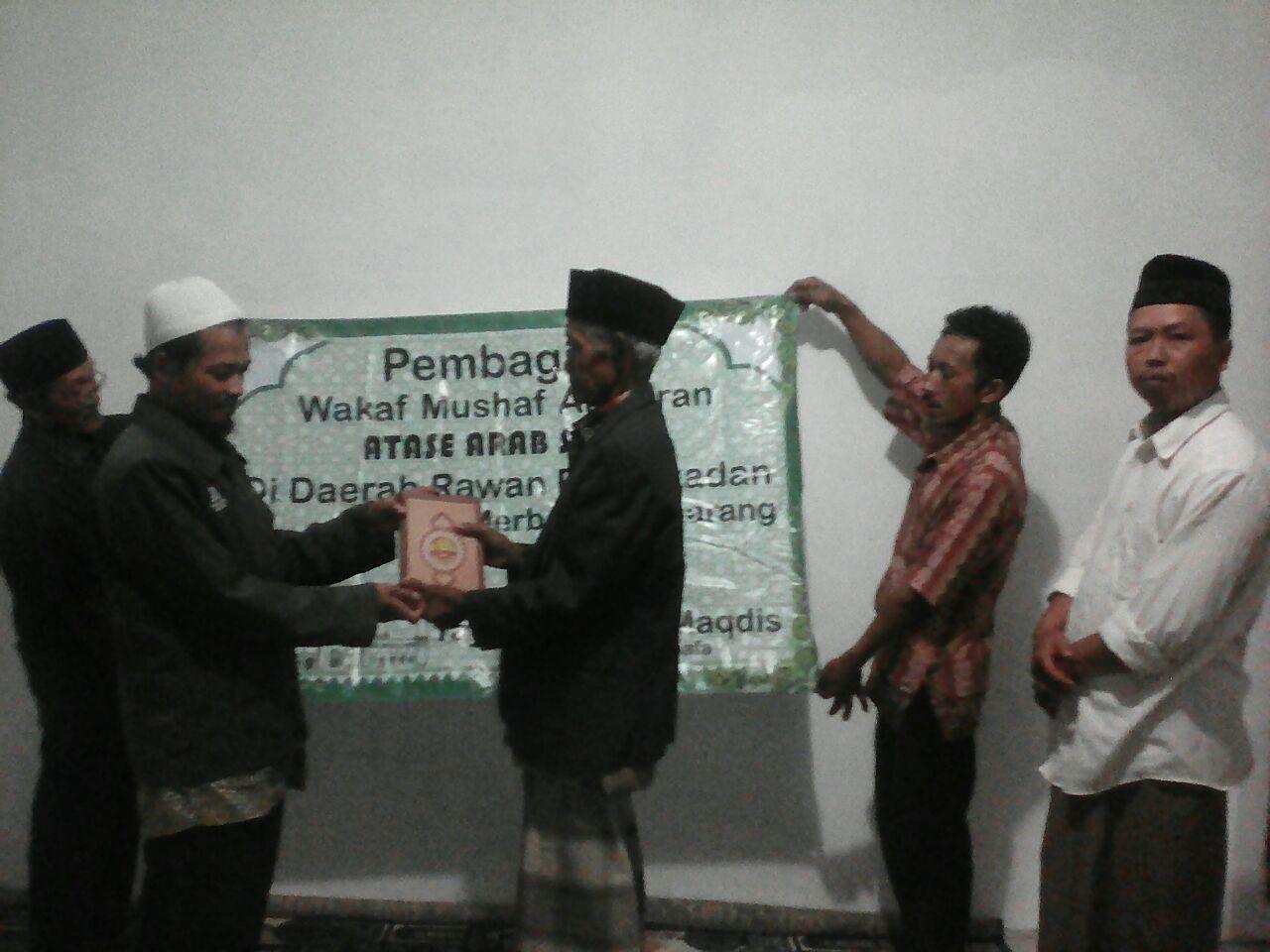 YBM Sebar Qur'an Wakaf Di Daerah Rawan Pemurtadan